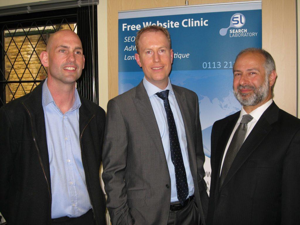 (l to r) Clive Sandle, Simon on the Streets, Ian Harris, Search Laboratory & Fabian Hamilton MP