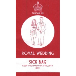 Royal Wedding Products - The Sick Bag
