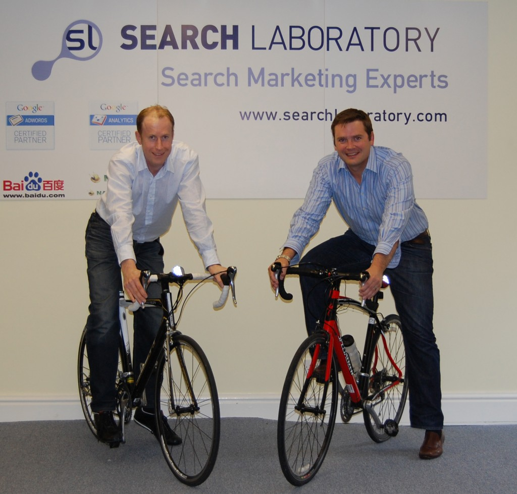 John Readman and Ian Harris - Search Laboratory Charity Bike Ride