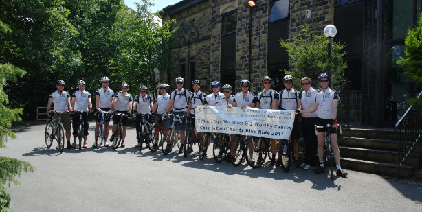 SEARCH LABORATORY'S 'LYCRA LADS' CYCLE TO THE FINISH LINE