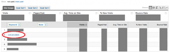 Keyword Data not visible in Google Analytics