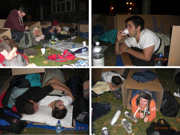 Search Laboratory Sleeps Rough for Charity