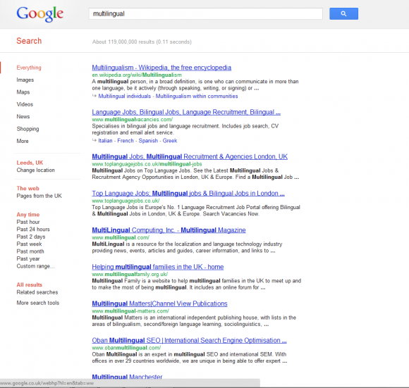 Incognito search results without Google+