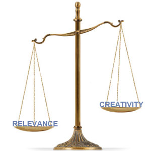 Creativity v Relevance in SEO Writing