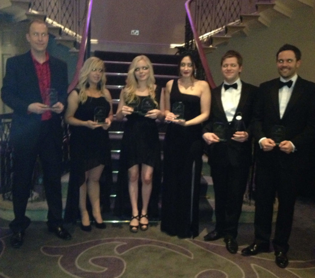From left to right:Ian Harris, CEO (Most Inspirational Award),Nicola Winters, Senior Off-Page SEO Executive (Helping Others Award),Freia Muehlenbein, Off-Page SEO Manager (SEO 'Top Dog' & Most Valuable Employee Award),Sasha Hanau, Marketing Manager (Extra Mile Award),Pete Whitmarsh, Head of PPC (PPC 'Top Dog' Award) andTim Carr, Operations Director (Respect Award).