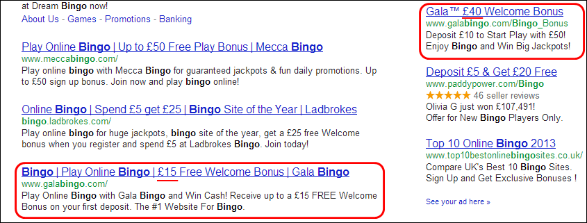 Search Results for 'bingo'