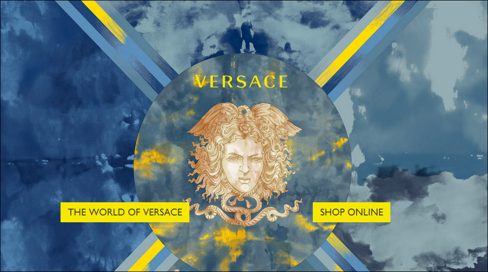 Splash screen of Versace