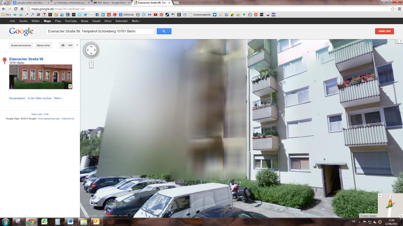 Google street view in Germany