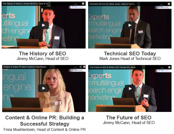 The Past, Present & future of SEO Conference Videos