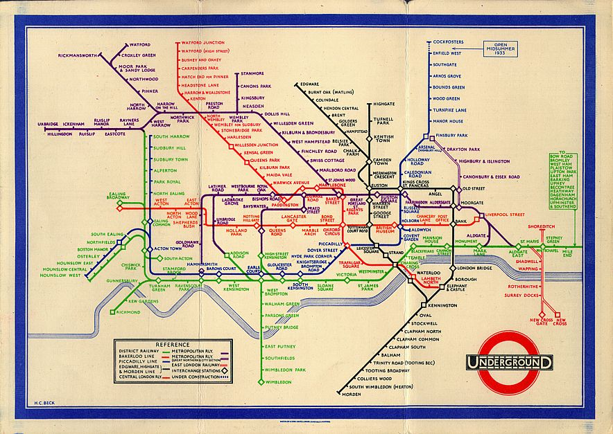 Beck's London tube map