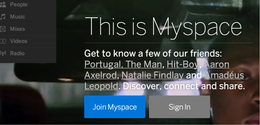 Myspace's new look
