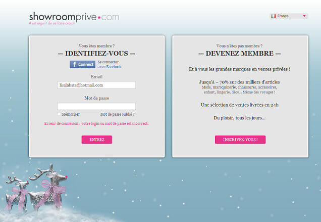 After Vente-privees success, a lot of French websites developed the same business model. Showroomprive.com is one of these.