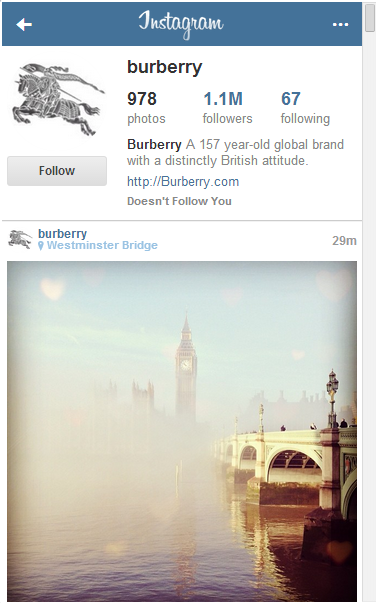 Burberry London Bridge