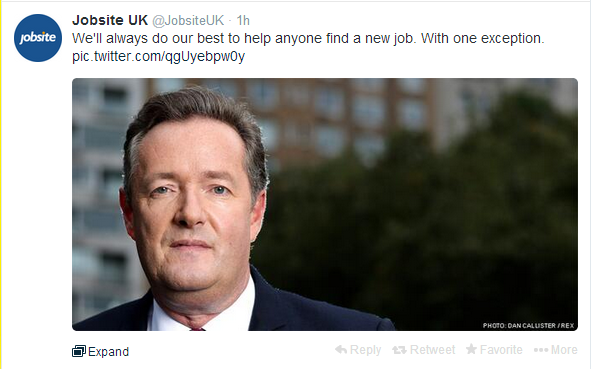 jobsite Piers Morgan