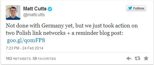 Matt Cutts Poland link networks