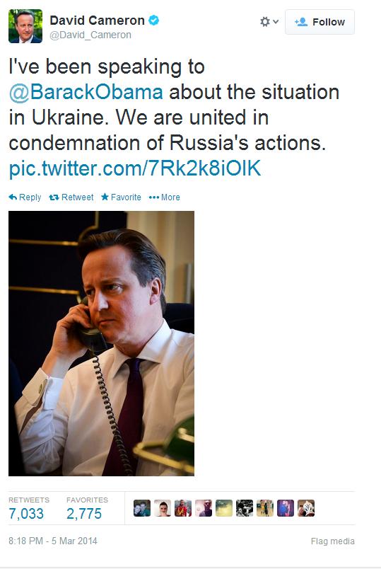Cameron tweet
