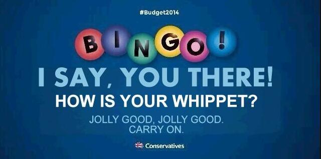 tory bingo ad