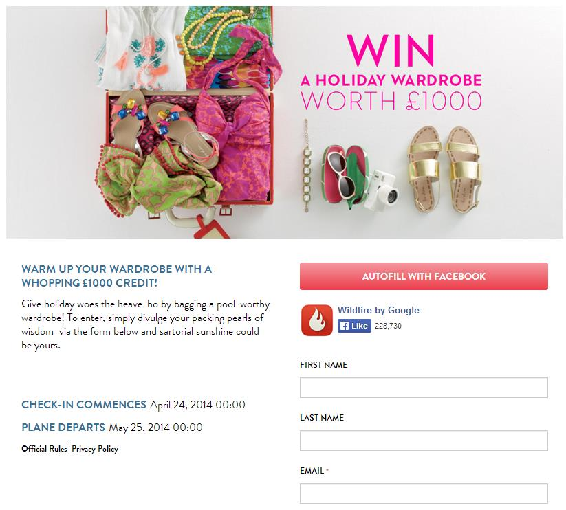 Boden Clothing Facebook Competition