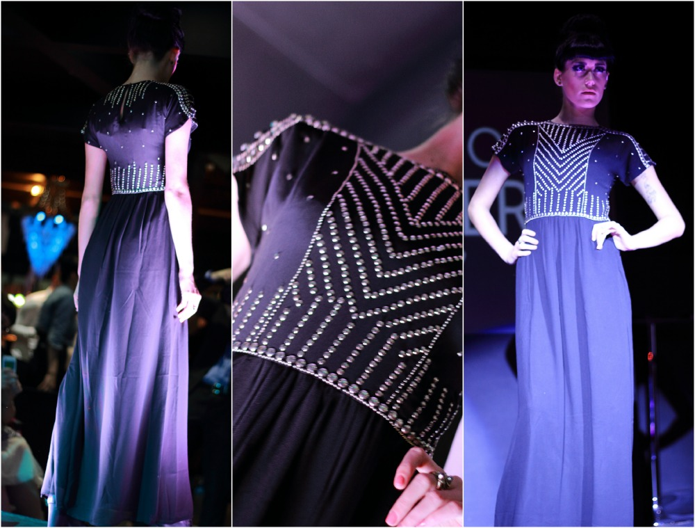 Different angles of a Biba Dress