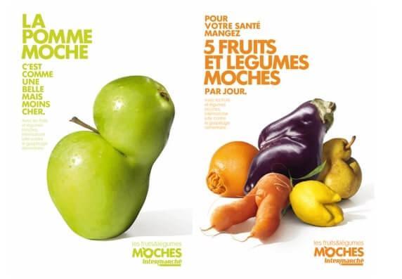 Les Gueules Cassées ugly fruit campaign