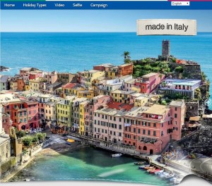 landing page italy travel