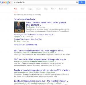 google scotland