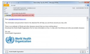 ebola email spam