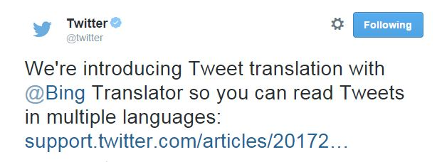 twitter bing translator