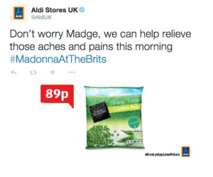 Twitter Newsjacking from Aldi