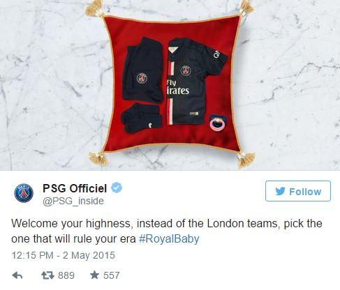 PSG Tweet