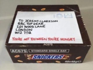 Snickers newsjacking example - Clarkson