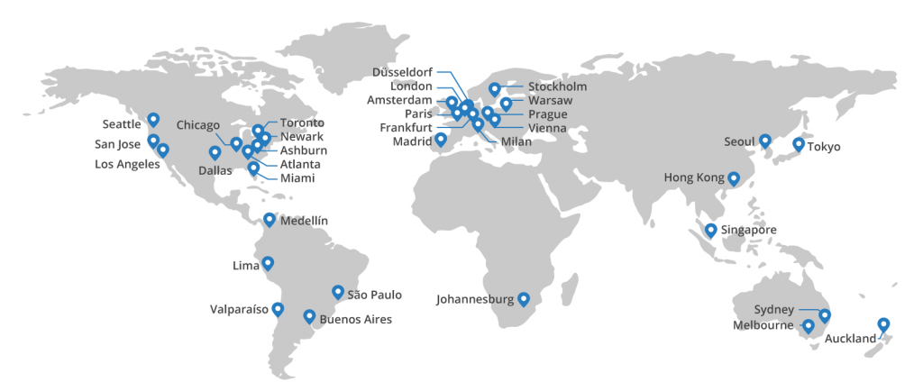 CloudFlare global network