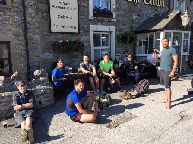 SL team in front of pub in Ribblesdale