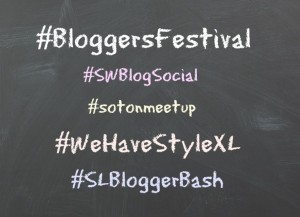 Hashtags for blogger events