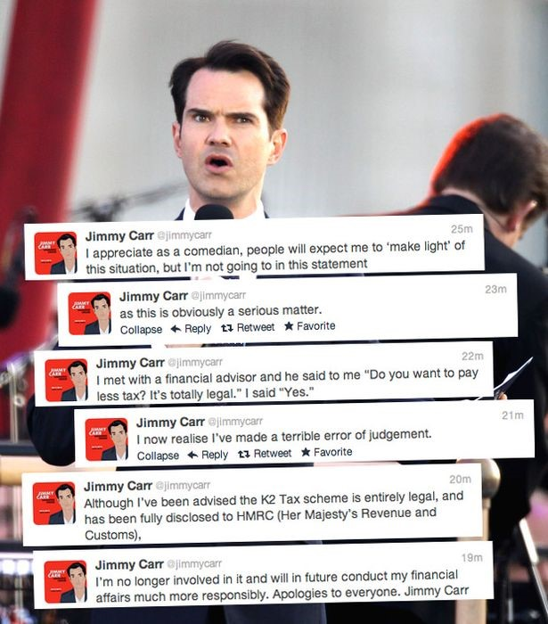 Jimmy Carr's Twitter Backlash
