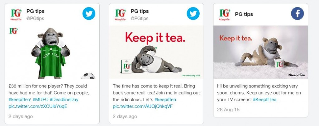 pg tips keep it tea tweets