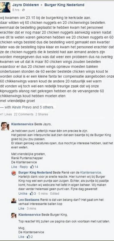 Facebook customer service fakery a Dutch market case study