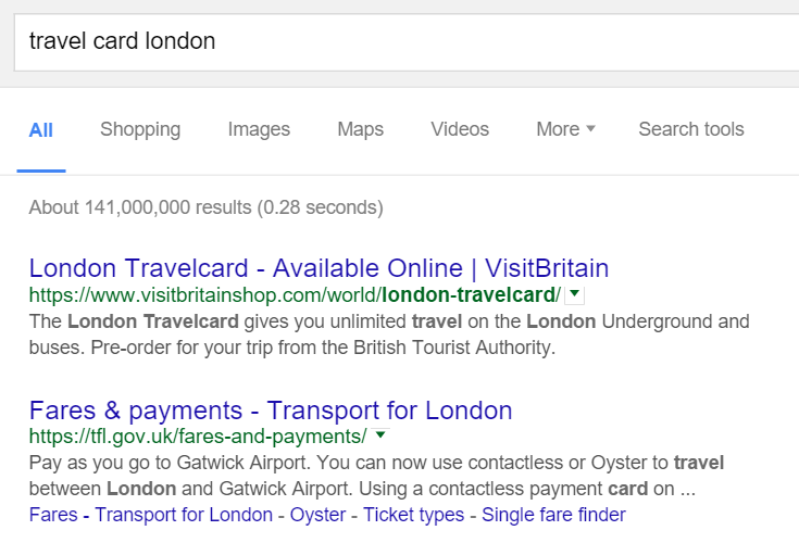 Query Travel Card London