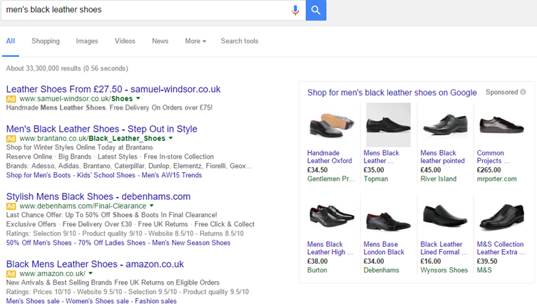 Google SERP removes right-hand ads