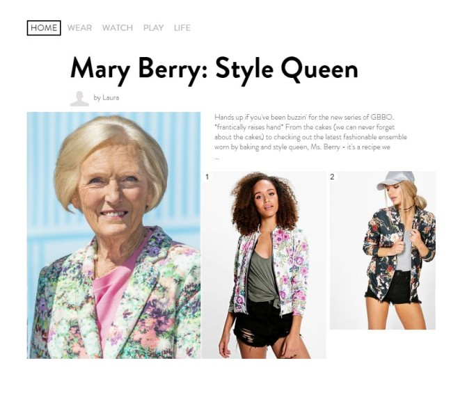boohoo UK Mary Berry