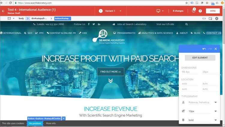 optimize-360-on-search-laboratory-website