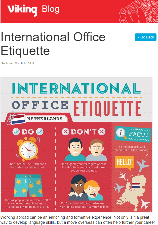 Office Etiquette Infographic