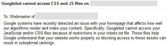 Googlebot cannot access css and js